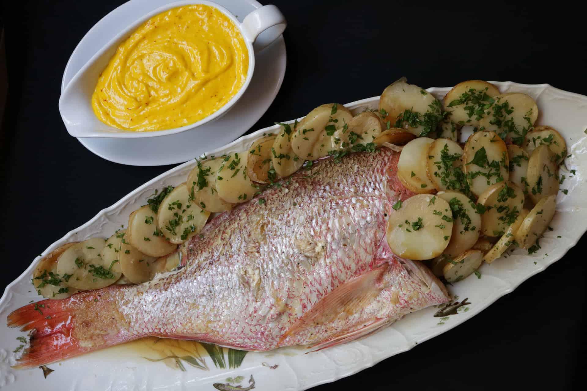 huachinango fr o con salsa aioli al azafr n cocinar y gozar