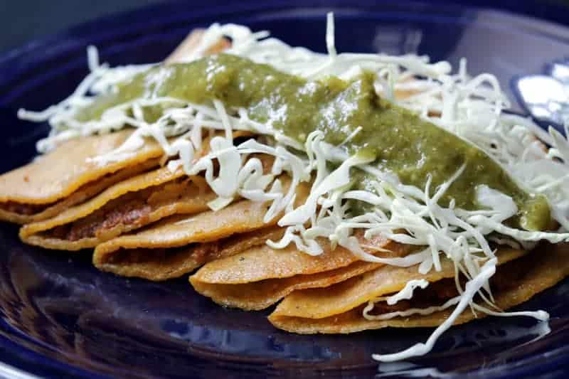 Tacos Al Vapor De Chicharrón y Papa