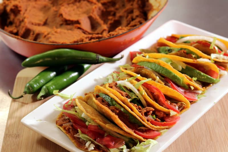 Tacos De Frijoles Con…