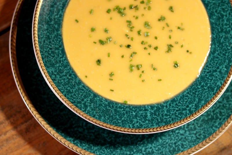 Sopa De Calabaza, Camote y Cacahuate