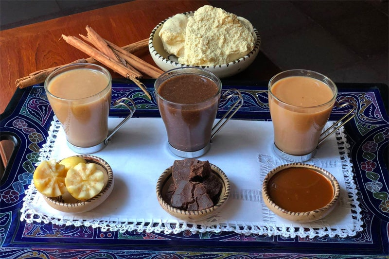 Trío De Atoles (Guayaba, Chocolate y Cajeta)